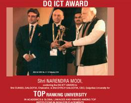 galgotias recieved awards thru pm narendra modi