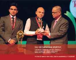 gu recieved awards thru infosys